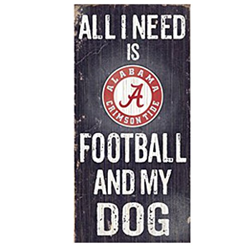 (NCAA Official National Collegiate Athletic Association Fan Shop Authentic Wooden Signs (Alabama Crimson Tide - Football and Dog))