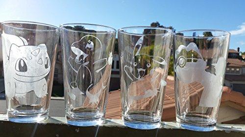 Cartoon Character Pint Glass Set