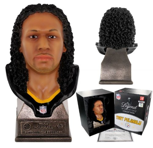 Pittsburgh Steelers Super Star Linebacker Troy Polomalu #43 NFL approved 8'' sculpture bust by forever