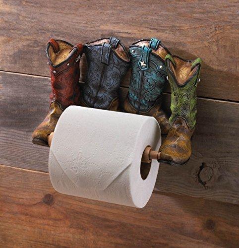 (STR8 Brand Cowboy Boots Toilet Paper Holder)