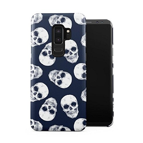 Grunge Gothic Skeleton Punk Mini Dead Human Skulls Pattern Plastic Phone Snap On Back Case Cover Shell Compatible with Samsung Galaxy S9 Plus]()
