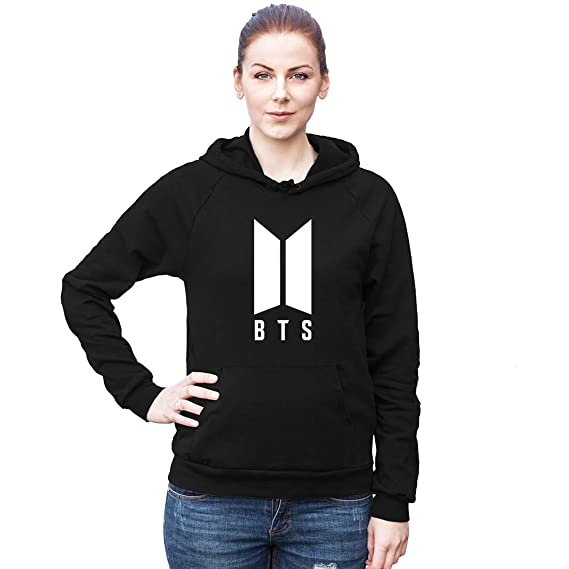 Fashion And Youth K-pop BTS Hoodie | Bangtan Boys Cotton Hoodie | Hoodies  for Women Women Hoodies Black Color