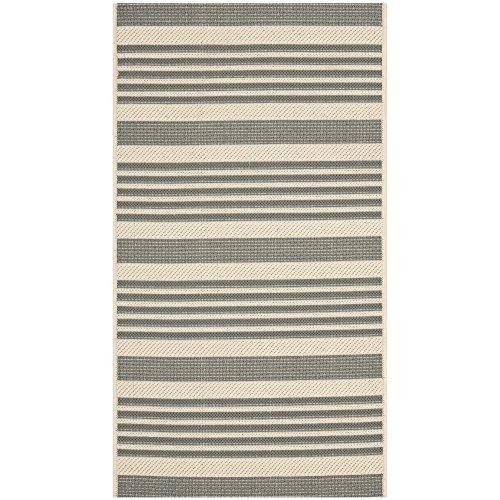 Safavieh Courtyard Collection CY6062-236 Grey and Bone Indoor/ Outdoor Area Rug (2'7