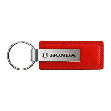 dantegts Honda Logo Llavero, diseño de piel de color rojo cromo llavero metal Llavero Lanyard JDM