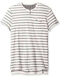 Jeans Men's Short Sleeve Slub Slit Neck T-Shirt
