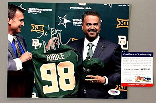 MATT RHULE SIGNED BAYLOR BEARS HEAD COACH 8x10 PHOTO COA AC66840 - PSA/DNA Certified
