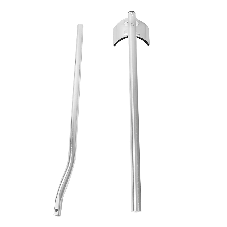BLACKHORSE-RACING 48 inch 64 inch Professional Grade Adjustable Drywall Stilts Taping Paint Stilt Aluminum Tool Stilt for Painting Painter Taping Silver