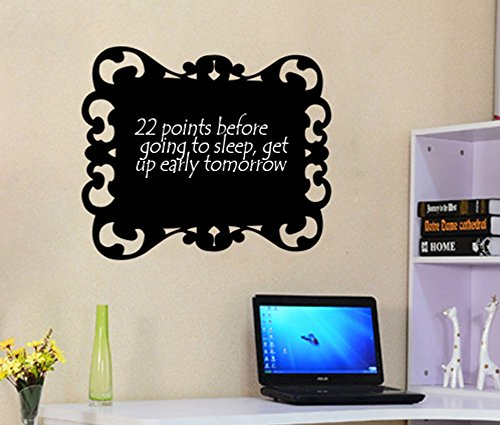 Fangeplus(TM) DIY Removable Vintage Board Lace Chalkboard Art Mural Vinyl Waterproof Wall Stickers Kids Room Decor Nursery Decal Sticker Wallpaper 23.6''x21.6''