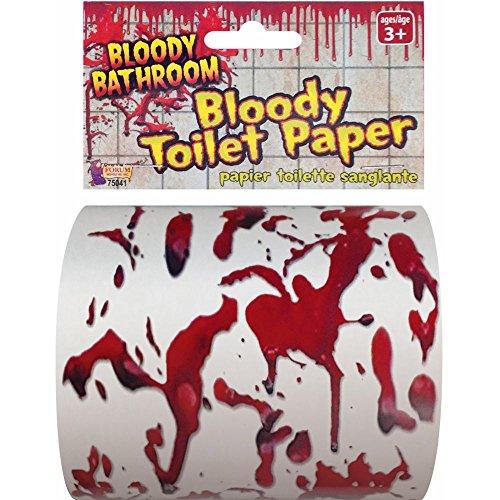 Splattered Gore Toilet Paper Prop