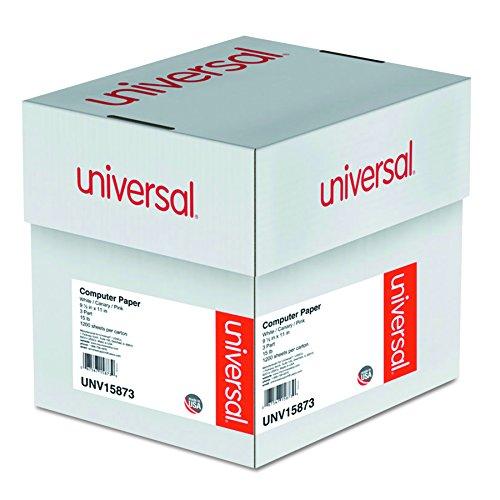 - Universal 15873 Multicolor Computer Paper, 3-Part Carbonless, 15lb, 9-1/2 x 11 (Case of 1200 Sheets)