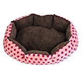 Cheap DealMux Indoor Warm So' Pet Dot Print Bed House Kennel Pad, Pink/Fuchsia