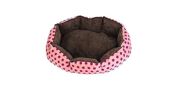 Amazon.com: eDealMax Caliente cubierta Así Pet Punto de impresión de cama de la casa de la perrera del cojín, rosa/Fucsia: Pet Supplies