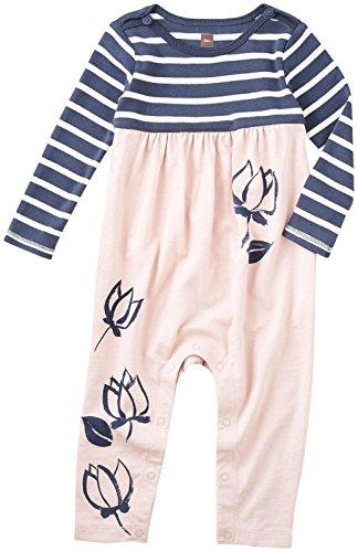 - Tea Collection Baby Girls' Lotus Graphic Romper, Peach Blush, 6-9 Months