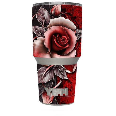 p (6-piece kit) for Yeti 30 oz Rambler Tumbler Cup / Beautful Rose Design ()