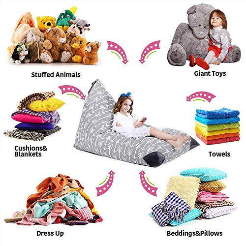 Best Evoio Stuffed Animal Bean Bag Storage Large Kid S