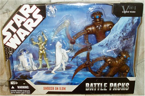 Star Wars Clone Wars Vol 1 Ambush on Ilum R2-D2, C-3PO, Padme Amidala & Chameleon Droids Battle Packs
