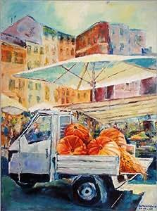 Póster 50 x 70 cm: Market in Rome 2 de Ulla Schönhense - impresión artística de alta calidad, nuevo póster artístico