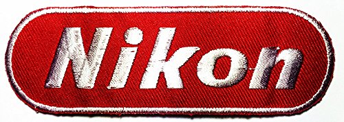 Nikon Red Dslr Digital Camera Photographer logo patch Jacket T-shirt Sew Iron on Patch Badge Embroidery