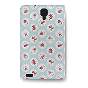 Leather Folio Phone Case For Samsung Galaxy S4 Leather Folio - Shabby Chic Florals on Blue Folio Designer
