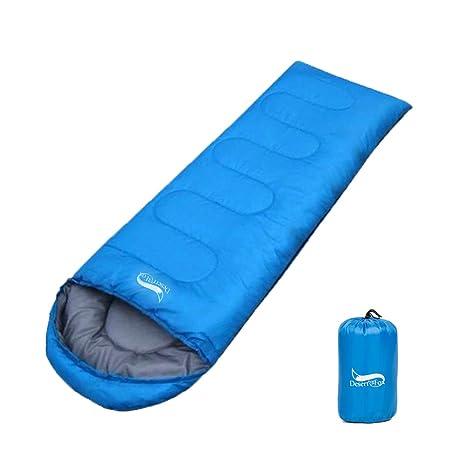 Saco de Dormir 190T Poliéster Resistente a la Humedad, Ligero y Portátil, Ideal para