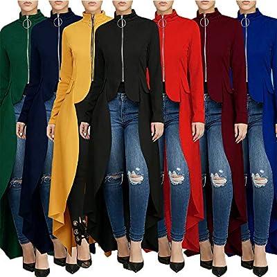 Womens Ruffle High Low Tops - Elegant Asymmetrical Irregular Peplum Top Tunics Maxi Shirt Dress at  Women's Clothing store