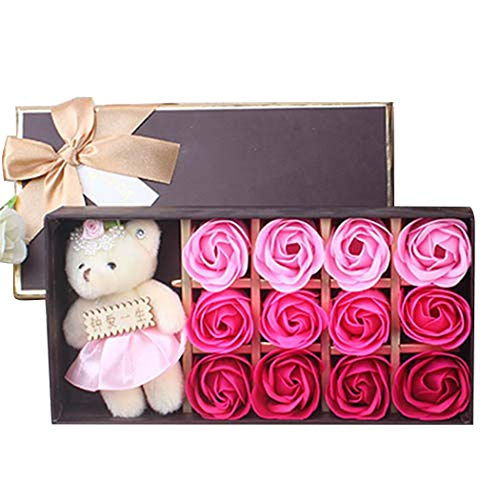 12 Piece Rose Flower Bath Soap Gift Box Only $7.50