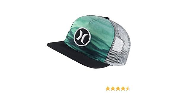 watch fb68e f2ee7 Amazon.com  Hurley Block Party Flow Trucker Hat Enamel Green, One Size   Clothing