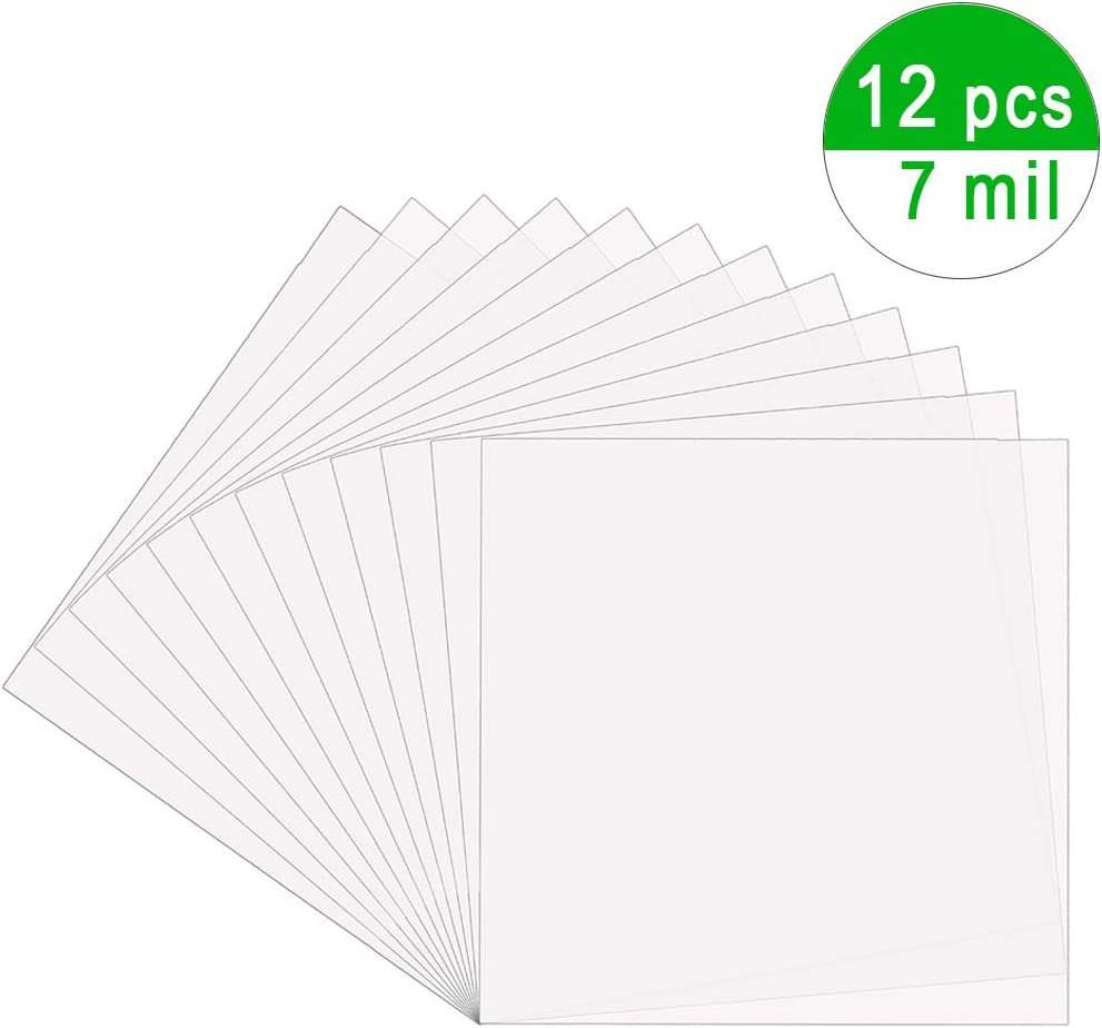 12 x 12 inches 25 Pieces 4 mil Blank Stencil Material Mylar Template Sheets for Stencils