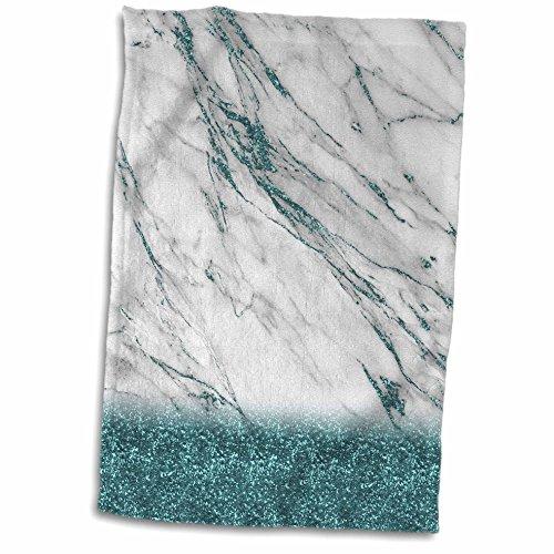 3dRose Luxury Grey Aqua Teal Gem Stone Marble Glitter Metall