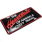 SmallAutoParts License Plate - The Heartbeat Of America Chevrolet Trucks