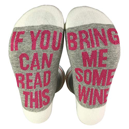 If You Can Read This Bring Me Some Wine Socks Casual Funny Novelty Socks for Women