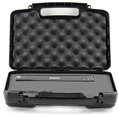 Hard Storage Carrying Case For Portable Scanners Fits Brands Like Epson WorkForce DS-30, VuPoint Solutions, Flagpower Magic Wand Portable Scanner and Accessories