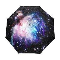 WOZO Space Nebula Galaxy Star 3 Folds Auto Open Close Umbrella