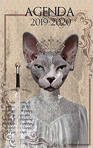 Agenda 2019-2020: weekly calendar planner cat game of ...