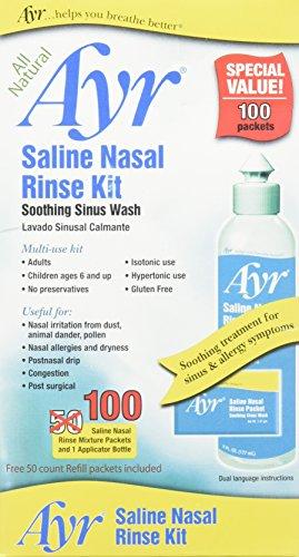 Ayr Saline Nasal Rinse Kit, 100 (Ayr Saline)