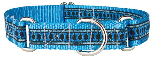 Country Brook Design Illusion Bone Woven Ribbon Martingale Dog Collar Limited Edition - Large