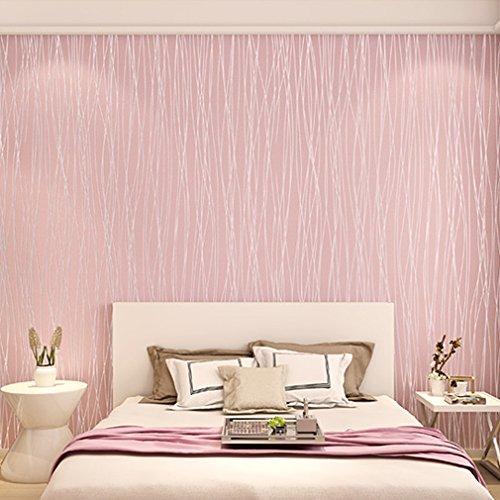 KINLO® Mustertapete 10x0.53m(5.3m) Tapete Wand Tapete Vlies 3d Tapete Rosa  Barock Für Wohnzimmer TOP Qualität Wandaufkleber Für Schlafzimmer  Möbelfolie ...