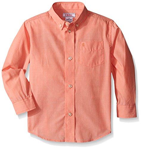 IZOD Kids Little Boys' Micro Thin Stripe Shirt, Bright Orange, ()