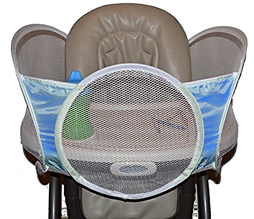 Tray Haven, The Original High Chair Accessory Keeps Food Toys and Cups From Falling, Blue