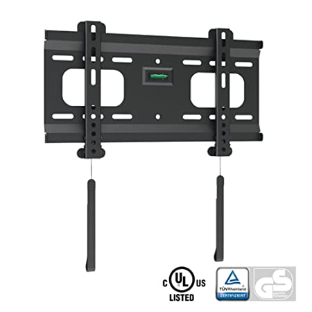 Ultra Slim Black Fixed/Flat Low Profile Wall Mount Bracket for Viore LED32VH30 32 quot; inch LED HDTV TV/Television
