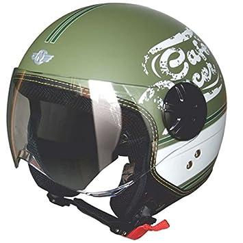 Casco Moto Fly Army Green Tag XXL, casco de moto con Calotta de material termoplástico