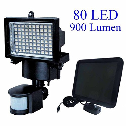 New 80 LED Solar Powered Super Bright Motion Sensor Security Flood Light Garden Outdoor Spot Lamp by LEDUSA by USA-LED