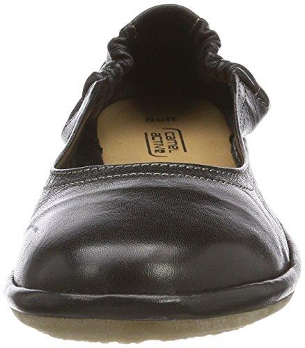 Soft Active Ballerines black 70 Noir Camel Femme 5aUx5v
