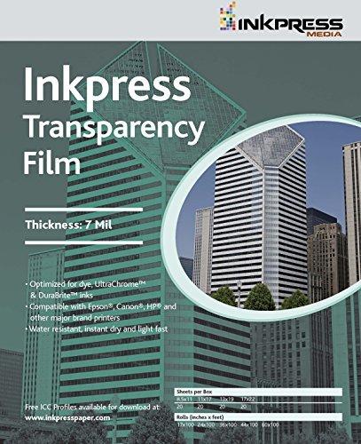 Inkpress Transparency Film - INKPRESS MEDIA #ITF111720 160GSM, 7 Mil