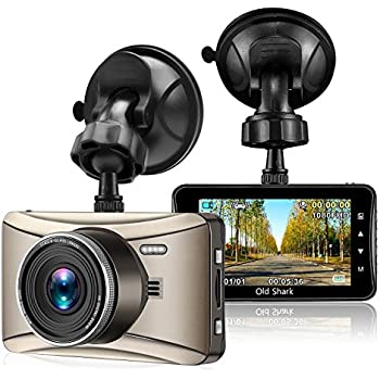 """Oldshark Dash Cam, G13 Car Recorder, 3.0"""" 1080P 170 Wide Angle Dashboard Camera with Sony Sensor Night Vision, G-Sensor, Loop Recording, WDR (Upgraded GS505)"""