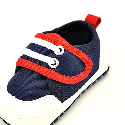 Leap Frog Sports Sneakers - Zapatos primeros pasos de Lona para niña azul marino