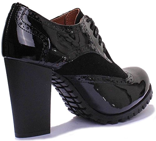 High Women Brogues Black Reece Heel Nova Leather Justin Matt Black Patent xw7gag4q