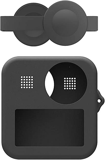 Flycoo2 Fundas Estuche de Silicona Suave para GoPro MAX, con Tapa de Lente: Amazon.es: Deportes y aire libre