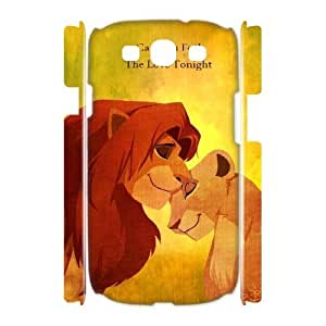 3D Cases for Samsung Galaxy S3, Can You Feel the Love Tonight,lion King Cases for Samsung Galaxy S3, Bloomingbluerose White