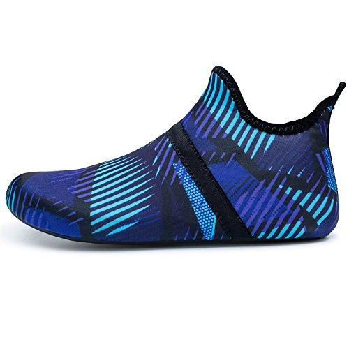 de Dive Zapatos Piel descalza Zapatos de Swim Surf navy Unisex L Beach para Yoga Run Mid Run Agua nCfPq8Yw